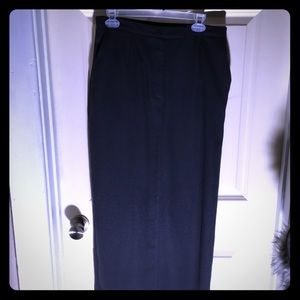 💜Liz Claiborne Maxi Skirt size 12 gray Career!💋